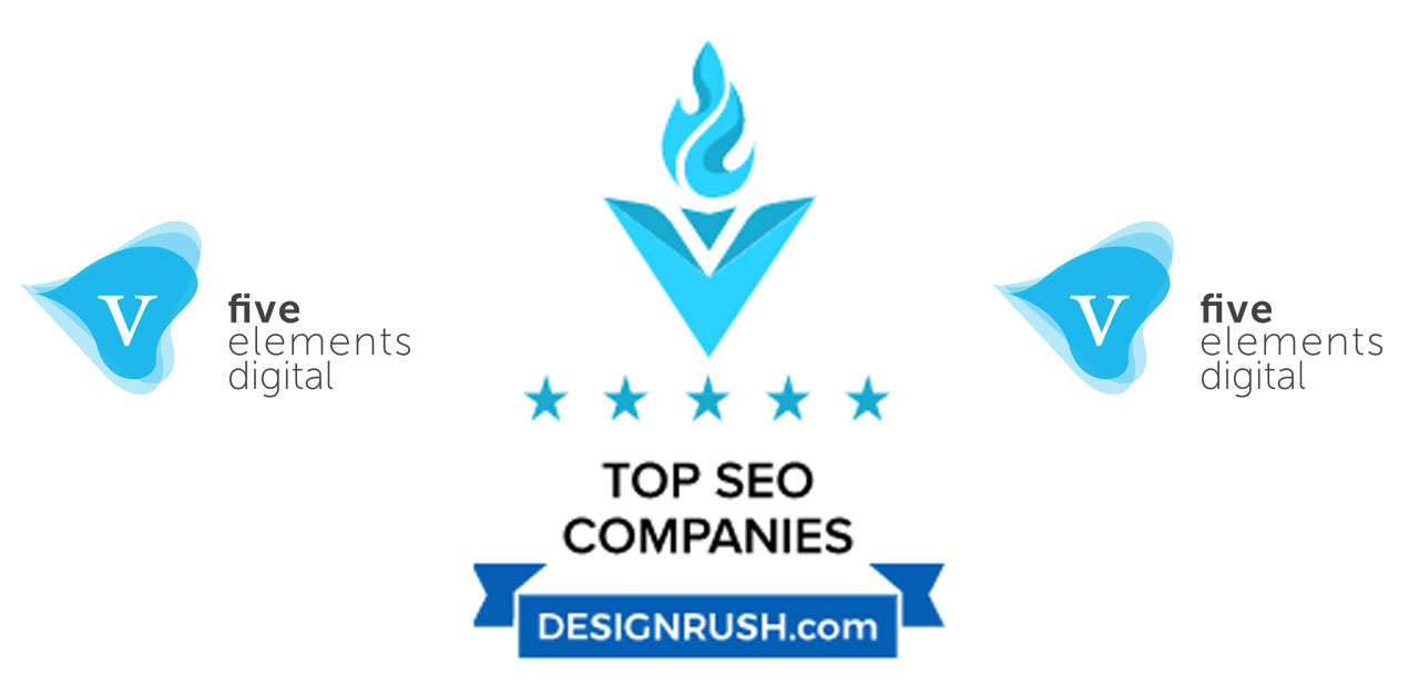 five elements digital named one of the Top 10 Enterprise SEO Agencies worldwide by DesignRush.com
